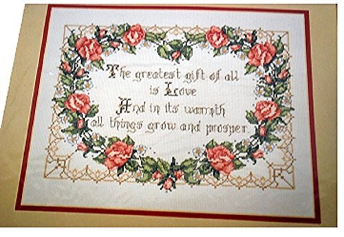 Bucilla 'The Greatest Gift' Counted Cross Stitch Embroidery Kit by Bucilla -