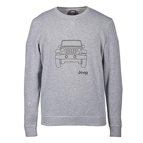 jeep-sweat-molletonne-a-col-rond-vehicle-outline-homme-j6w-grey-melange-military-xl