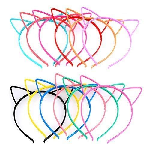 TIMESETL Diadema Orejas Gato Niña 12 Colores Brillates