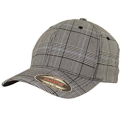 Flexfit Karo Cap Glen Check black white - S/M