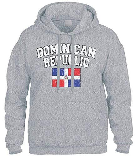 top1998 Verblaßter beunruhigter Flaggen-Sweatshirt-Kapuzenpulli der Dominikanischen Republik -