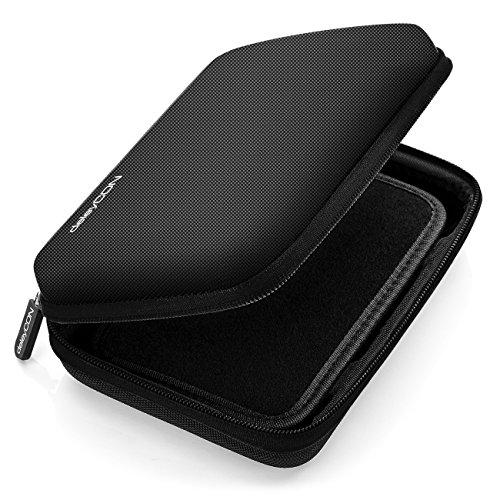 deleyCON Navi Tasche Navi Case Tasche für Navigationsgeräte - 6 Zoll und 6,2 Zoll (17x12x4,5cm) - Robust und Stoßsicher - 1 Innenfach - Schwarz