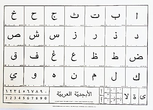 Das Arabische Alphabet Poster. 50x 70cm