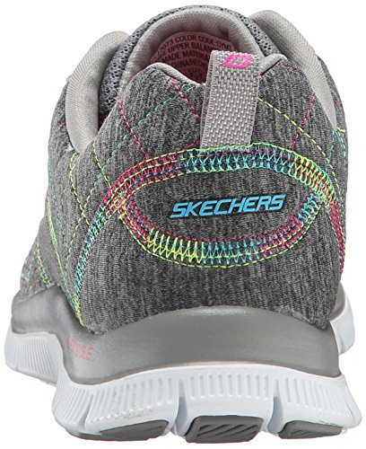 Skechers - Flex Appeal totally Fab, Sneaker basse Donna Grey Multi
