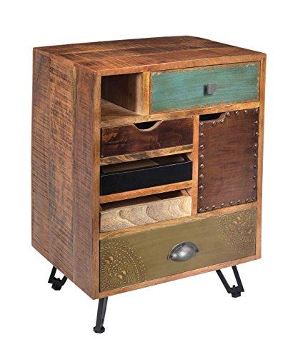 Treasure Trove Accents Schatzkammer Akzente Brisbane Fünf Schublade eine Tür Ende Tisch, Holz, farbenreiche -