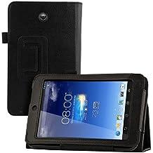 kwmobile Funda para Asus Memo Pad HD 7 - Case delgado para tablet con soporte - Smart Cover slim para tableta en negro