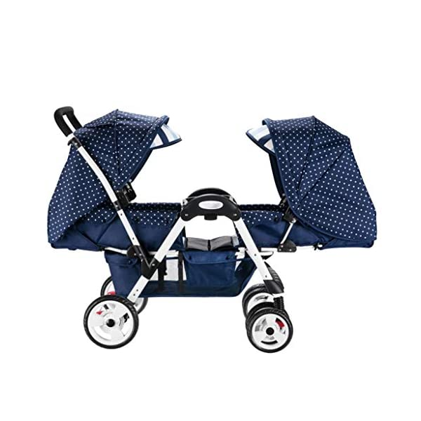 Twin Baby Stroller, 2 Baby Umbrella Caravans, Sit Lie Down, Light and Easy to Fold, Stroller Hjd-Strollers  1