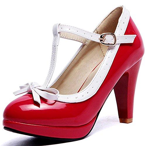 SaraIris Frauen Hochhackigen Schuhe Vor Gericht - Knoten D 'Orsay Hochzeitsfeier Ball Pumpen Dorsay Pump Schuhe
