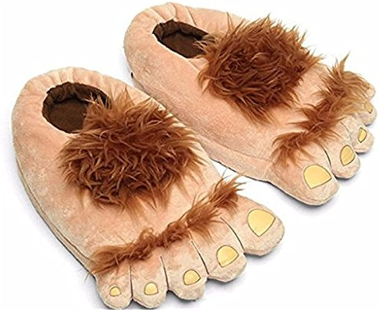 Pantoffeln?Bigfoot Lustige Pelz Adventure Barbaric Hobbit Hausschuhe Winter Warm Indoor Fluffy Pantoffeln Freeö