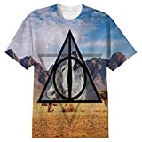 Snoogg Universe Wolf Mens Casual All Over Printed T Shirts Tees