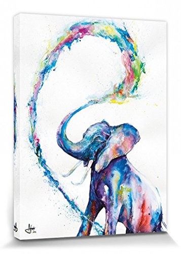 1art1® Elefantes - Elephant, Marc Allante Cuadro, Lienzo Montado Sobre Bastidor (80...