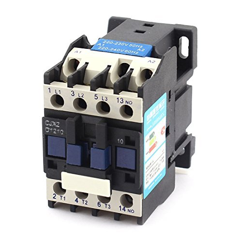 DealMux a14110400ux0047 AC Contactor Motor Starter Relay 3-Phase Pole 1NO 220V Coil Voltage Ui 660V Ith 25A
