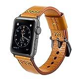 Apple Watch Series 3 Correa 42mm,iBazal iWatch Correa de Reloj Genuino Banda de Cuero de Pie...