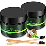 MayBeau Teeth Whitening Powder, 2 x 60 Gram Natural Activated Charcoal Powder Mint