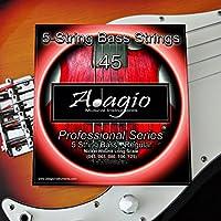 Adagio Professional 5-String Bass Guitar String Set 45-125