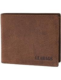 LEABAGS Springfield portefeuille rétro-vintage en véritable cuir de buffle