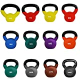 JLL Neoprene Covered Cast Iron Kettlebells (8 Kilograms)