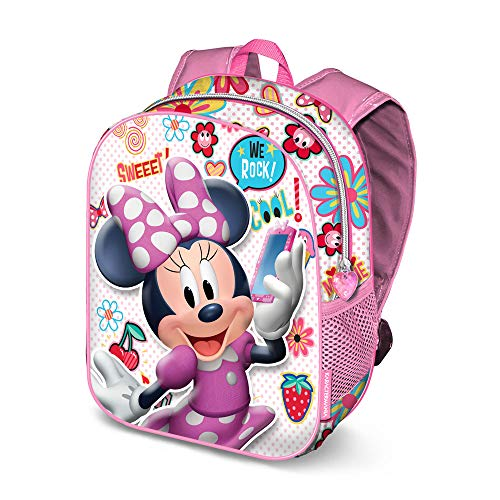 Karactermania Minnie Mouse OhMy!-Sac à dos 3D (Petit) Zainetto per bambini, 31 cm, 8.5 liters, Multicolore (Multicolour)