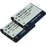 2 x Dot.Foto Batterie de qualité pour Olympus LI-40B, LI-42B - 3,7v / 740mAh - Entièrement 100% compatibles - garantie de 2 ans [Pour la compatibilité voir la description]