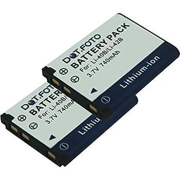 2x batería Olympus mju 740 mju 750 mju 760 mju770sw