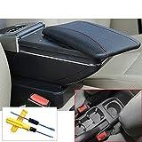 MyGone 2011-2014 Aveo Sonic Lova T250 T300 Armlehne Box zentral Store Inhalt Aufbewahrungsbox Getränkehalter Auto-Styling Zubehör Schwarz + Werkzeug