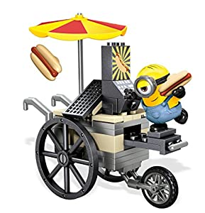 Mega Bloks- 9E20E144 - Minions Playset - Flying Hot Dogs 63 Piece Construction Set with Figure - Despicable me