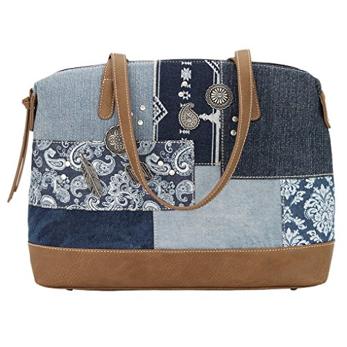 Banadana From American West  Êtop-handle Bags, Damen Henkeltasche One Size, blau - Multi Indigo - Größe: One Size (Handtasche American West)