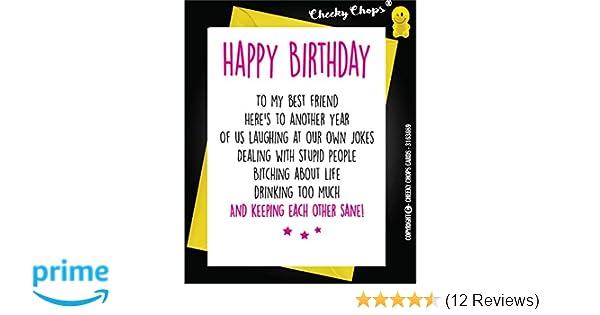Funny Best Friend Birthday Card Bestie Humour Fun Sarcasm C21 Free P P