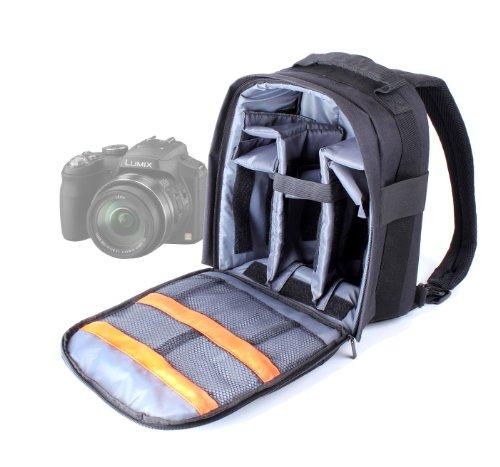 DURAGADGET Mochila Resistente Con Compartimentos Para Cámara Panasonic Lumix DMC GX7 / DMC FZ70 + Funda Impermeable ¡Perfecta Para Fotografiar Bajo La Lluvia!