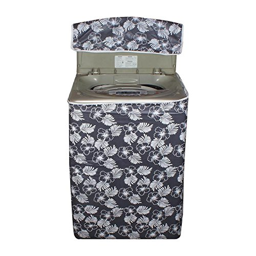 Lithara Floral Grey Colored waterproof and dustproof washing machine cover for Whirlpool Stainwash Deep Clean 6.5Kg Fully-Automatic Top Loading Washing Machine  available at amazon for Rs.399