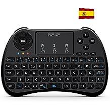 Reiie H9S Mini Teclado Inalámbrico 2.4GHz (Disposición en Español) con ratón touchpad