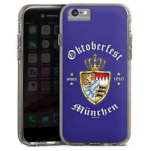 Apple iPhone X Bumper Hülle Bumper Case Glitzer Hülle Oktoberfest Schild Wiesn Bayern Bumper Case transparent grau
