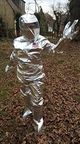 Astronauten Anzug mit Helm, Handschuhe und Stulpen XXL/XXXL (Kostüme Astronaut Helm)