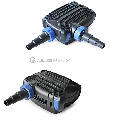 Aquaristikwelt24 CTF-B 5000 Teichpumpe 30 Watt Eco Motor 5000 l/h 2in1 System Skimmer Förderpumpe Pumpe Energiesparpumpe
