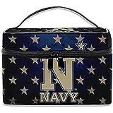 Naval Academy Logo Blue Stars Make up Bag Cosmetic Bag Pouch Large Toiletry Organiser Travel For Women Men Girl
