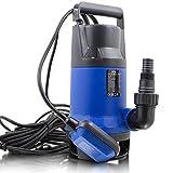 BITUXX® 1100W Tauchpumpe für Brunnen Zisterne Bewässern Garten Regentonne Schmutzwasser