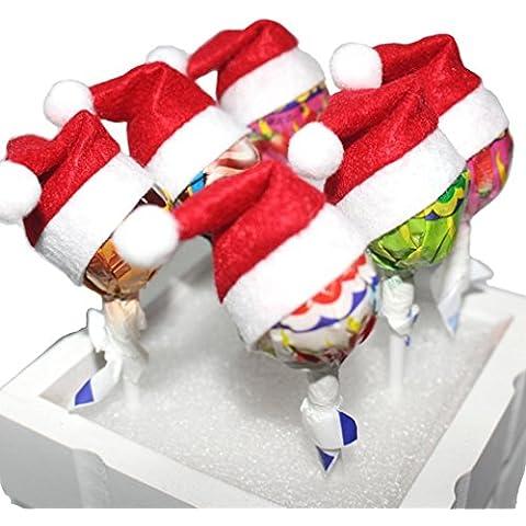 Oyedens 6pezzi rosso mini Babbo Natale cappelli