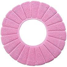 4367 Funda para la tapa del WC diámetro 30 CM calentito y cómodo para el asiento - Rosa