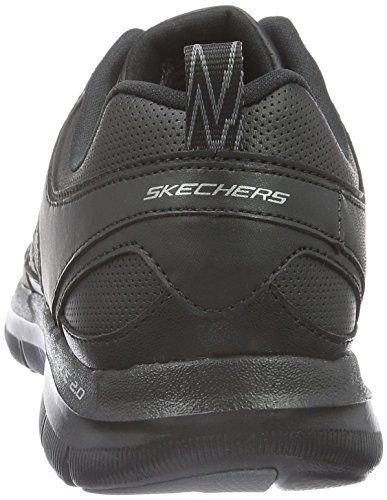 Skechers Flex Appeal 2.0 Good Timing, Baskets Basses Femme Noir (Black/black)
