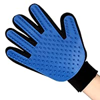 deggod 1Pcs Silicon Soft and Effective Pet, Pet Massage Glove Grooming Mitt for Cats and Dogs Fur Hair Remover Grooming Bath Brush Clean Gloves, Rubber Grooming Glove