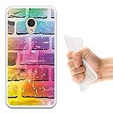 WoowCase Alcatel 1C DUAL SIM Hülle, Handyhülle Silikon für [ Alcatel 1C DUAL SIM ] Ziegelsteinmauer 2 Handytasche Handy Cover Case Schutzhülle Flexible TPU - Transparent