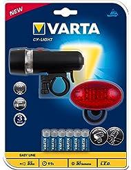 Varta Set Lanterne Vélo avec 6 Piles AAA LR03