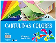 MP PN211 - Pack de 10 cartulinas, 160 gr, multicolor