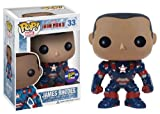FUNKO Diego Comic-con 2013 Pop Iron Man 3 Iron Patriot Unmasked James Rhodes Figure