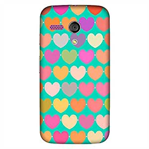Mobo Monkey Designer Printed Back Case Cover for Motorola Moto G :: Motorola Moto G (1st Gen) :: Motorola Moto G Dual (Heart :: Love :: Red :: Doodle :: Texture & Pattern)