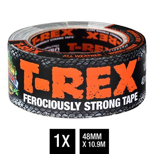 T-Rex Tape 821-47 Gewebeband - Extrem starkes Panzertape - Wasserdichtes Reparaturband für innen & außen - Klebeband zum Reparieren & Befestigen - 48mm x 10,90m