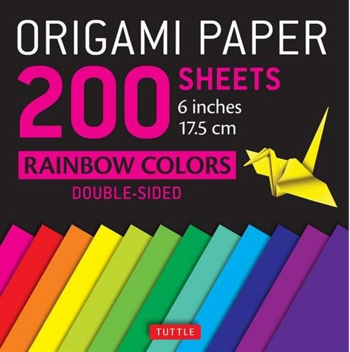 "Origami Paper 200 sheets Rainbow Colors 6"" (15 cm): Tuttle Origami Paper: High-Quality Origami Sheets Printed with 12 Different Colors: Instructions for 8 Projects Included (Stationery)"