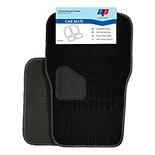 AP Automotive Universal Car Mats Trim Fits Most Cars (Grey)