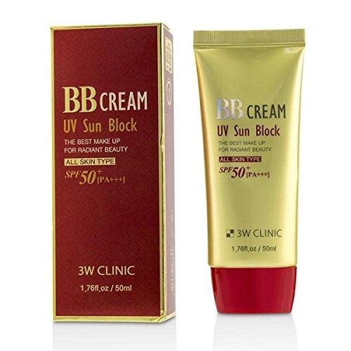 3W Clinic Uv Sun Block Bb Cream Spf50 Pa+++Korea Cosmetics