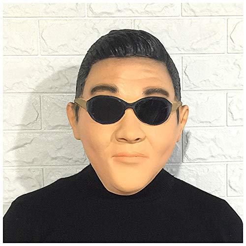 YaPin Neuheit koreanische Sängerin Park Jae-sang Maske PSY Maske Maskerade Latex Headwear Weihnachtsshow Requisiten